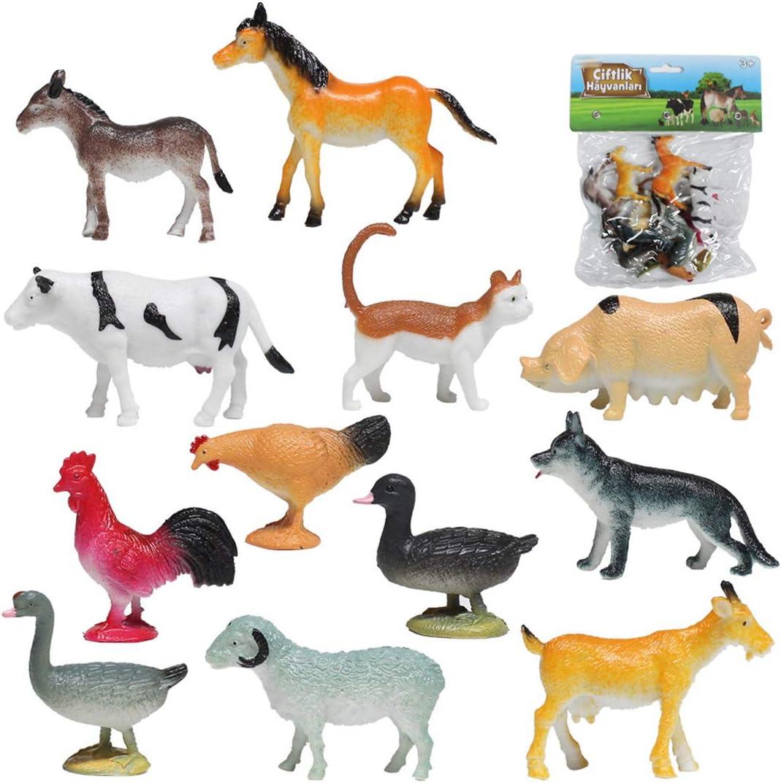 UOPJKL Modello Animale 12 Pezzi Figure Animali Capra Gatto