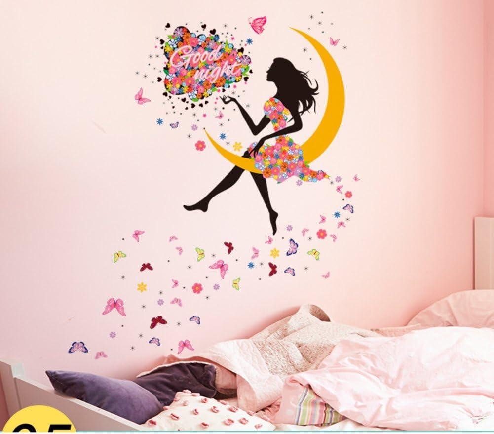 Amazon Com Su Hin Girl Bedroom Stickers Wallpaper For Princess Decorative Wall Stickers Bedroom Girls Dormitory Stickers E 140x100cm 55x39inch Furniture Decor