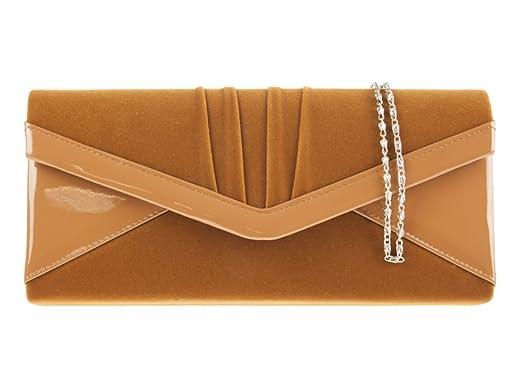 Girly HandBags Ladies Clutch Bag Suede Patent Envelope Evening ...