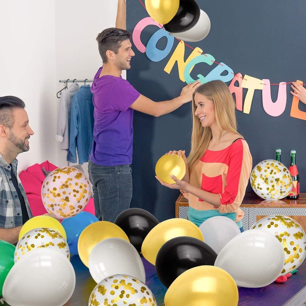 Kier Ballons Rose Rouge Blanc Ballons Transparents Confettis Helium Gonflable Ballons D/écoratifs pour Mariage Anniversaire(40 Pi/èces)