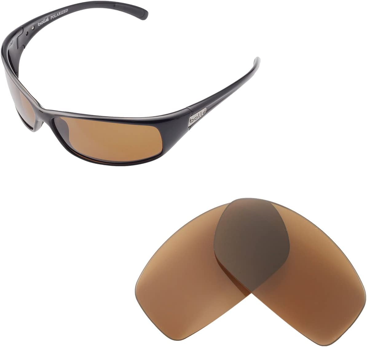 Fuse Lenses Polarized Replacement Lenses for Bolle Recoil 11054