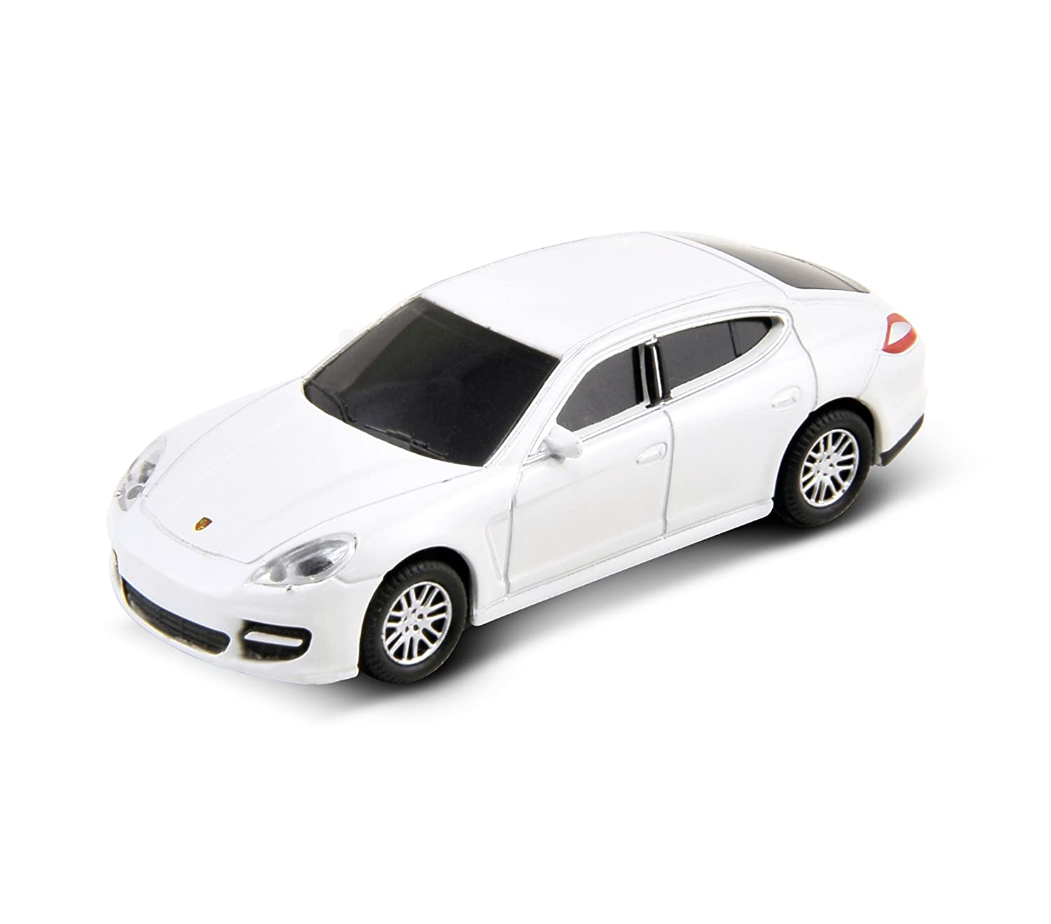 Autodrive 92907W - Memoria Flash USB 2.0 (8 GB), diseño de Porsche Panamera Turbo, Color Blanco: Amazon.es: Informática