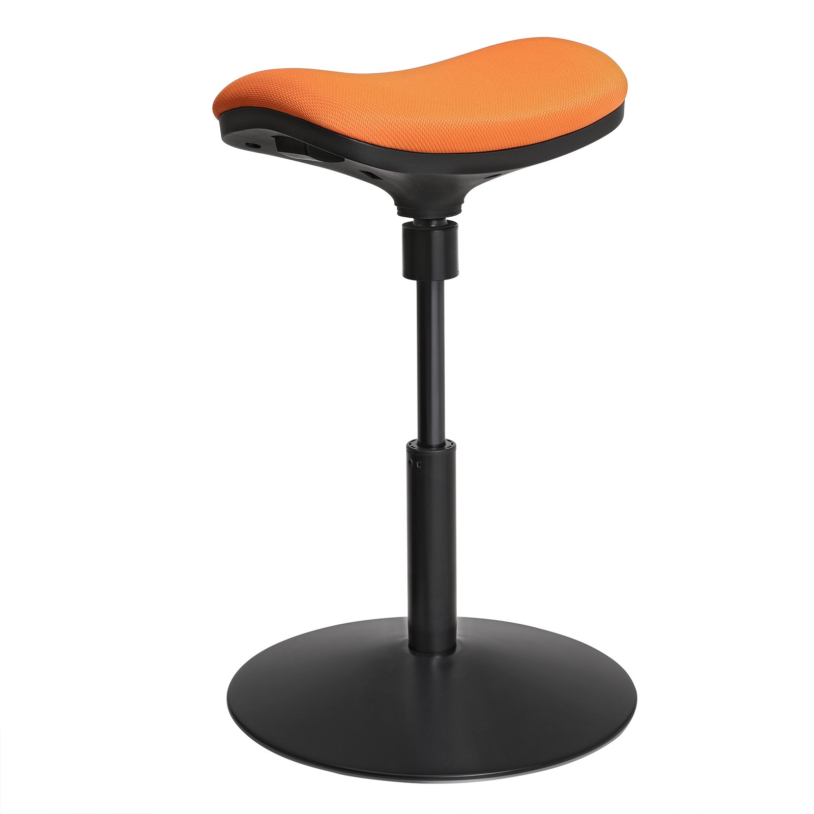 SONGMICS Active Stool, Adjustable Height Standing Stool, 360° Swivel Wobble Stool, Height 20.1-25.6 Inches for Kids, for Home Office, Orange UOSC03OG by SONGMICS