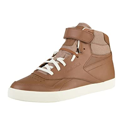 047aab412f525c Reebok Classics Men s Exofit Hi Fvs Lux Dark Brown And White Leather  Sneakers - 13 UK