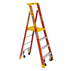 Werner, PD6204-4C, Podium Stepladder, 4 Ft, Fiberglass, 300 Lb