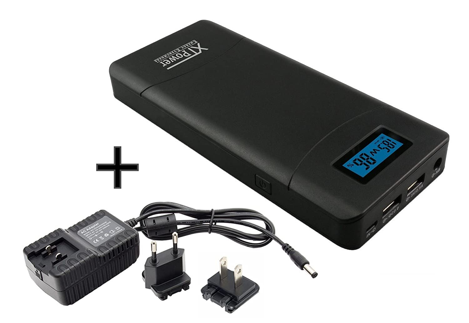 XTPower XT-20000QC2 PowerBank modern DC/USB battery with 20400mAh - 5V USB and exit for 12 to 24V FBA_XT-20000QC2PA2