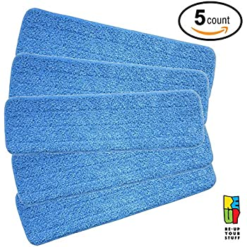 Amazon Com Microfiber Mop Pads 2 Pack 18 Quot X 5 5 Quot Fit 15