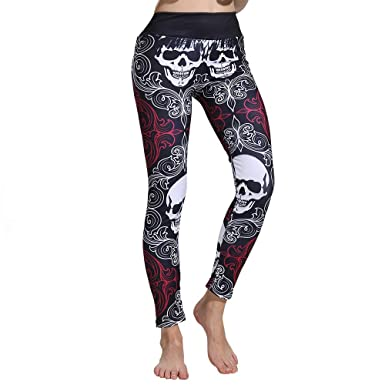 cinnamou Pantalon Mujer Halloween, Casual Pantalones Slim ...