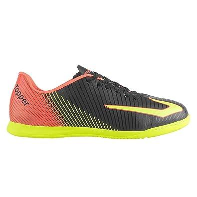 Chuteira Topper Ultra Futsal Preto neon  Amazon.com.br  Amazon Moda 0bb8bb1917cd3