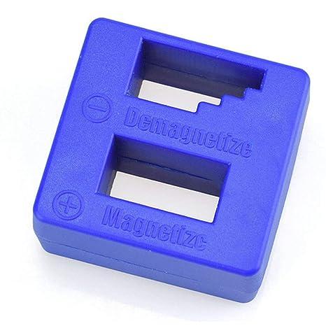 Destornillador Magnetizador Herramienta de Mano Destornillador Desmagnetizador de Alta Precisión Multifuncional Reducir Destornillador Magnético Azul