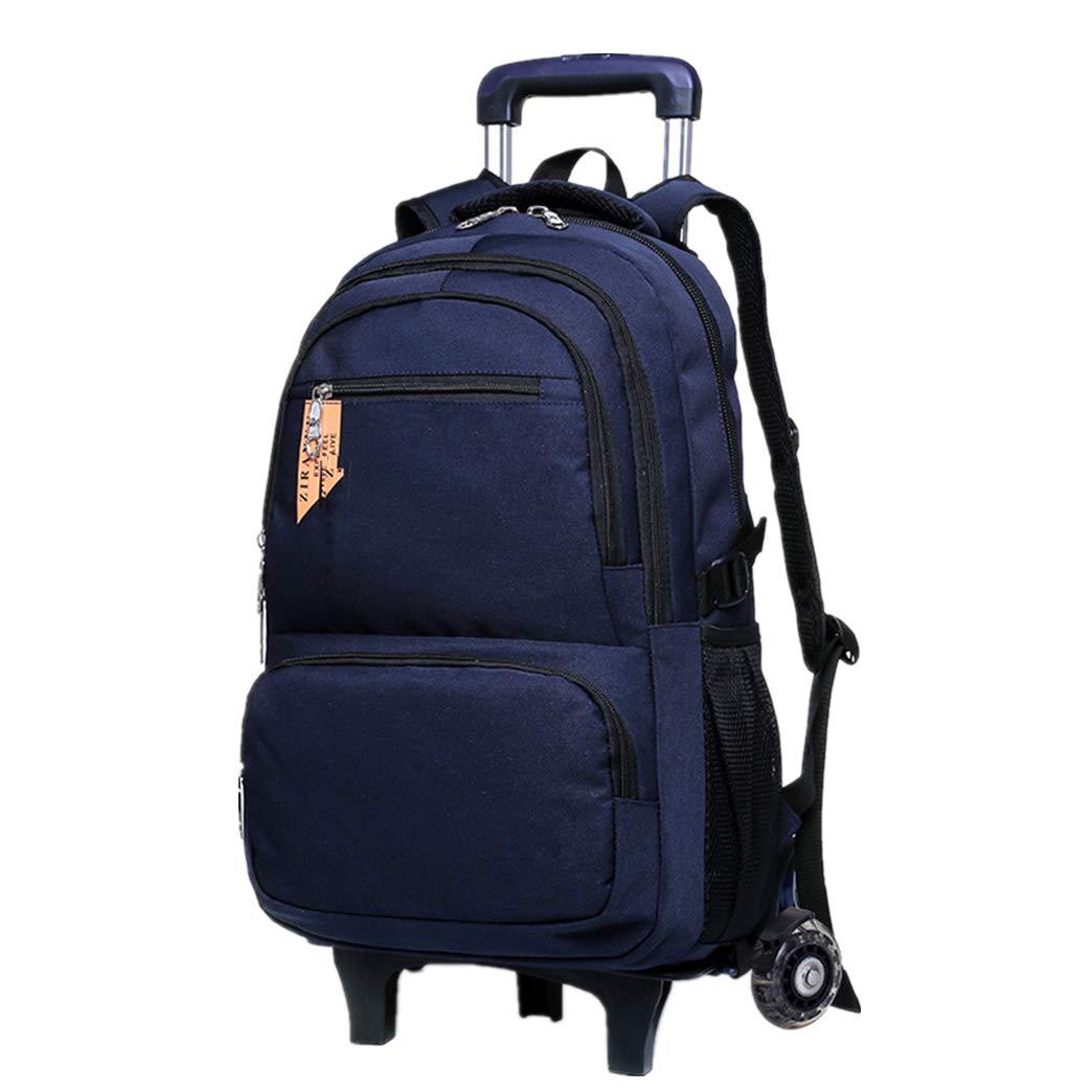 bb6fa931af Zaino Trolley Staccabile Borsa Viaggio - Zaini Zaini Zaini Neutro Durevole  Impermeabile Scuola Studente Ragazzo Backpack 20-35L Blu 2 Ruote 3a7673