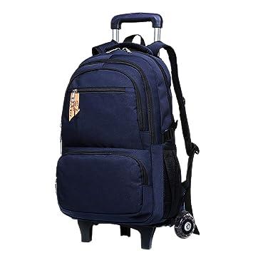 Bolsa Ruedas Desmontable Trolley Mochila - Viajes Colegio Mochilas Neutral Alta Capacidad Durable Impermeable Daypack 20-35L Azul 2 Ruedas: Amazon.es: ...