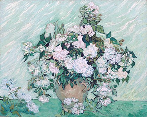 (Vase with Roses by Vincent van Gogh. Wall Decal - Peel & Stick, Removable (24