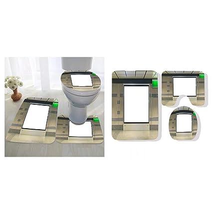 Amazon Com Uolongqul Three Piece Toilet Seat Pad Custom Blank