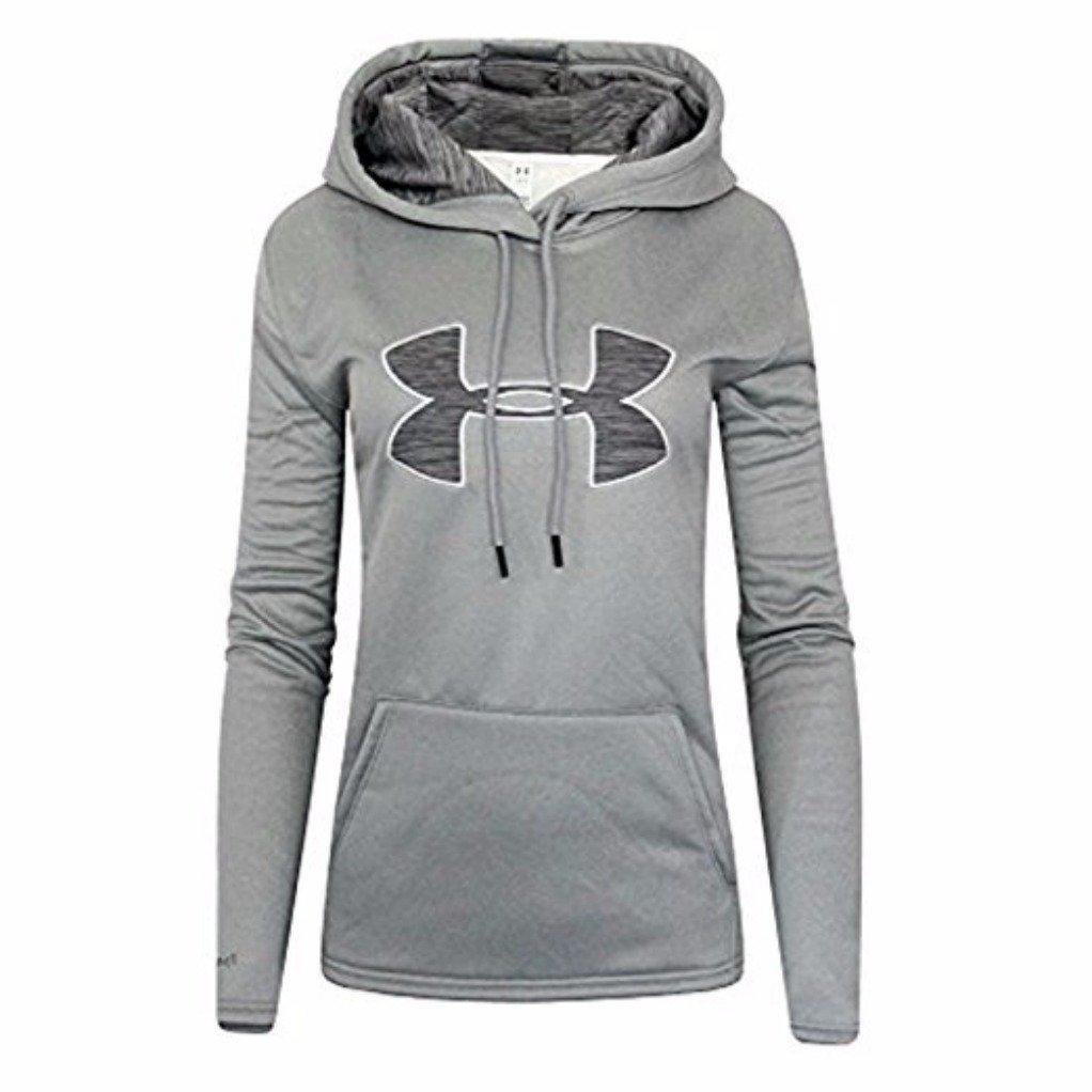 f362c51d Amazon.com: Under Armour Women's UA Storm Big Logo Hoodie (Grey, X-Small):  Sports & Outdoors