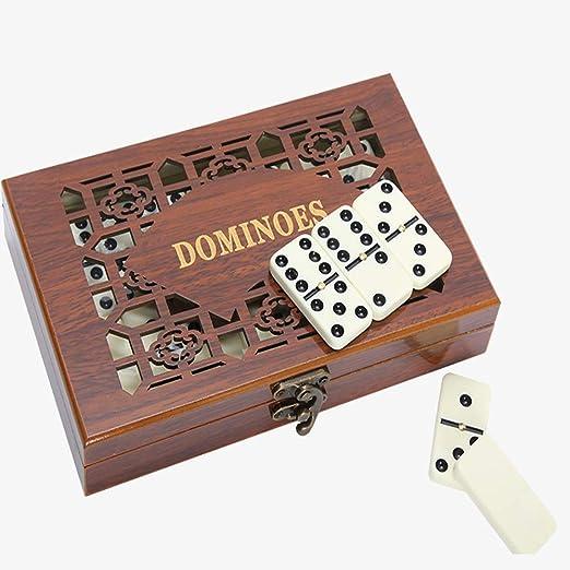 Conjunto de Juguete Caja de Madera Antigua Caja de Domino Dominó ...