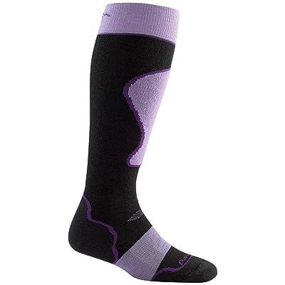 .com : Darn Tough Women's Merino Wool Alpine Ski Over-The-Calf Padded Cushion Sock, Medium, Black/Purple : Sports & Outdoors