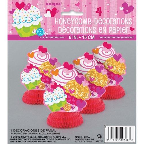 "6"" Mini Cupcake Hearts Valentine's Day Decorations, 4ct"