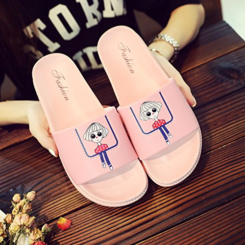 Summer Couples Home Pink Home Non Shoes Slippers Students Thick Cool Slippers 39 Slippers Tide Slip Bathroom Women Bath Indoor fankou 38 xIwP7Uw