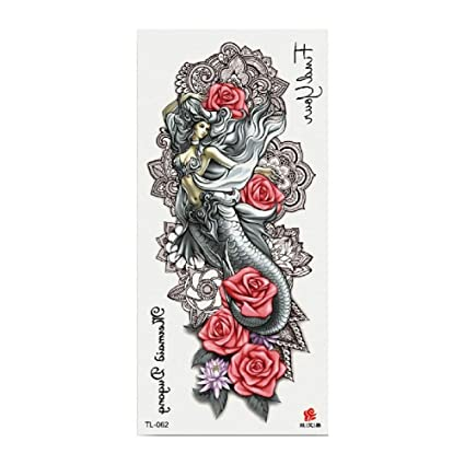 Tatuaje de la flor apliques brazo dama pecho vientre cubierta ...