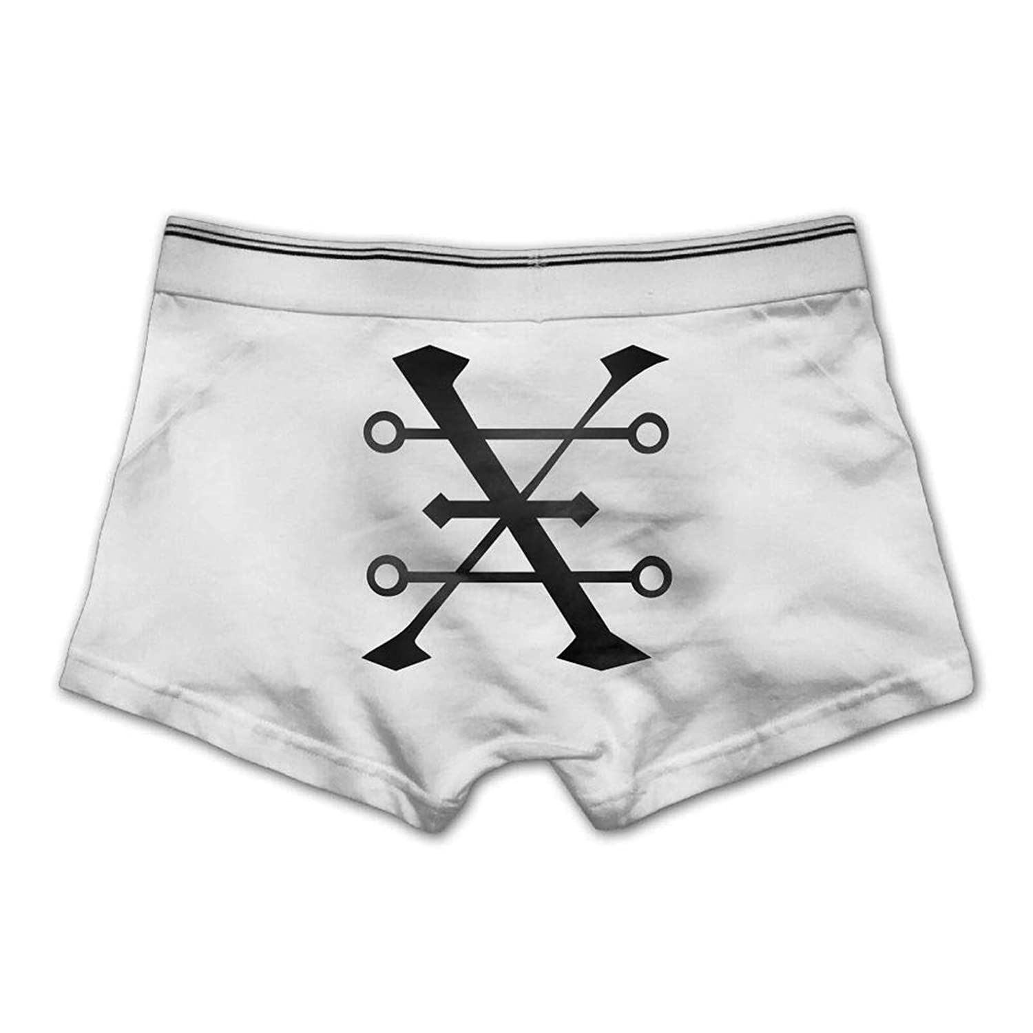 Mens Boxer Briefs Underwear Copper Alchemy Symbol Printed Underpants Light Weight Casual Breathable Soft Medium,White
