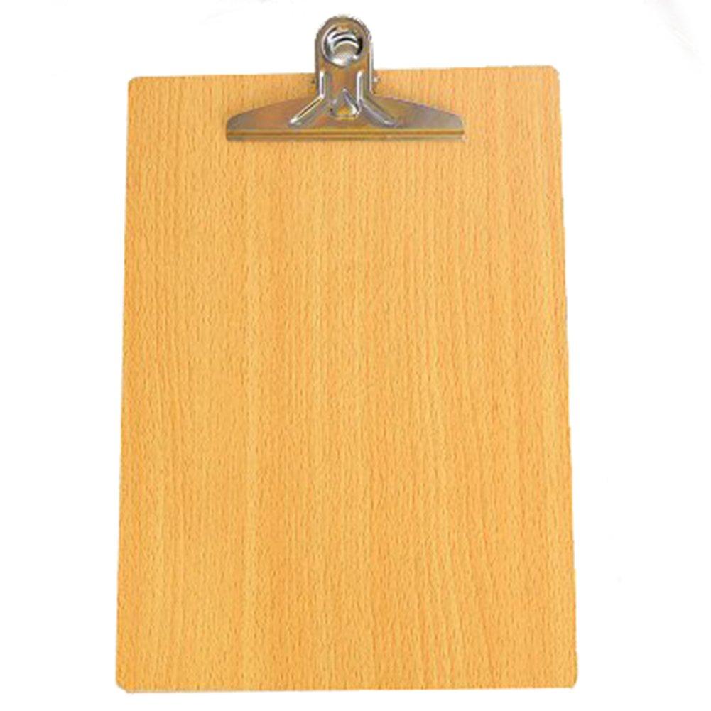 chytaii Portablocco in legno vassoio–Fermacarte Ministro con clip Frattone in Pinza A4