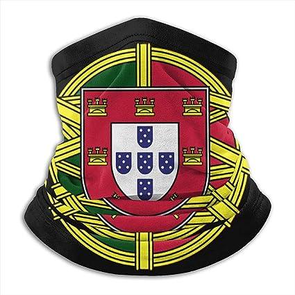 WCUTE Drapeau du Portugal avec for/êt /ét/é Bandana Couverture du Visage Cagoule /écharpe poussi/ère Soleil Protection UV p/êche Cou gu/être pour Hommes et Femmes Noir
