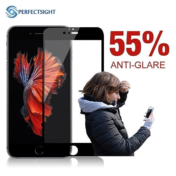 perfectsight [Anti-Glare] Anti luz Azul Filtro antihuellas 9H Vidrio Templado Protector de Pantalla para Apple iPhone 6/6S Plus (Primaria Edition): ...