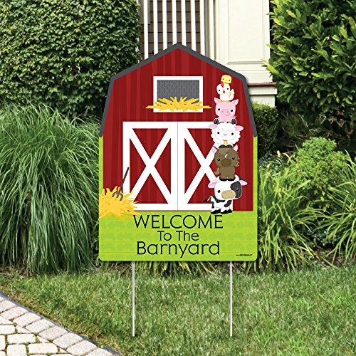 Barnyard Baby Shower (Farm Animals - Party Decorations - Birthday Party or Baby Shower Welcome Yard Sign)