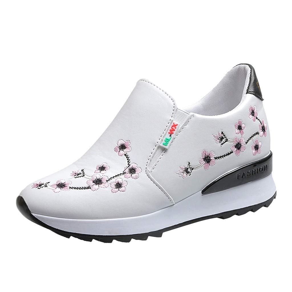 DressLksnf Zapatillas de Casual para Mujer Color Sólido Zapatos ...