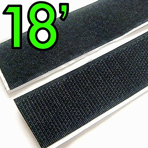 Bestsupplier 1 inch Self Adhesive Hook and Loop Fastener 18 Feet Rolls Sticky Back Tape - Loop Fasteners Self Adhesive