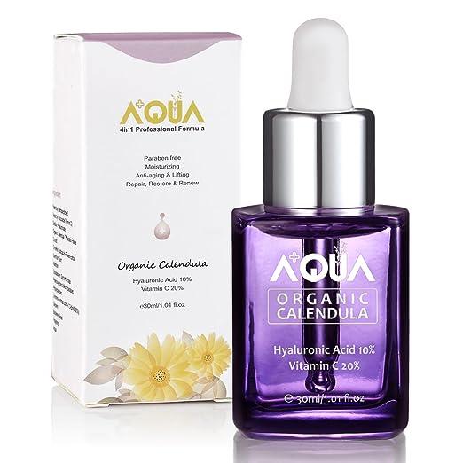 56 opinioni per AQUA + Siero idratante viso con estratto di calendula biologica, con vitamina C,