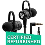 (CERTIFIED REFURBISHED) Ant Audio W56 Wired Metal in Ear Stereo Bass Headphone (Black)