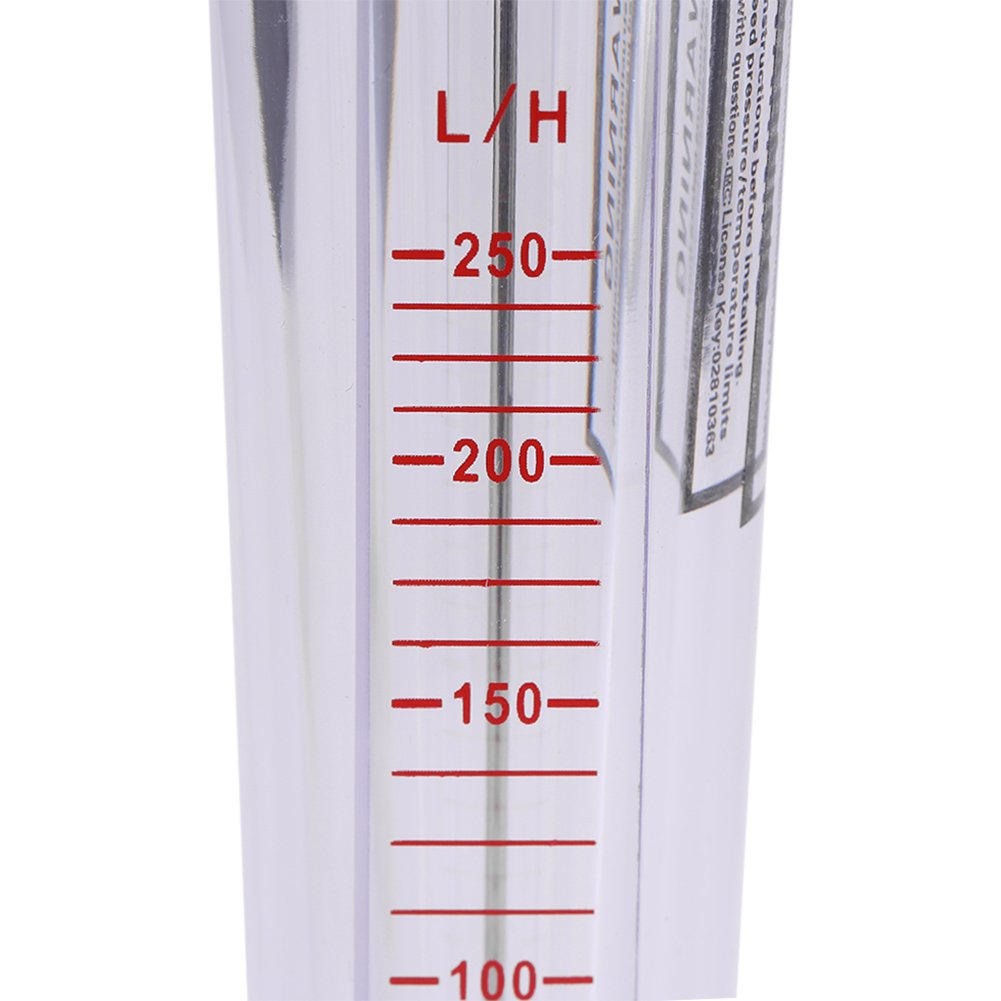 H Misuratore di portata dellacqua istantanea per tubi di plastica a flusso rotatorio di 25-250L