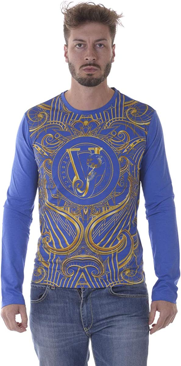Versace Jeans - Camiseta Hombre B3GOA796 Jersey Azul Cub Rubino
