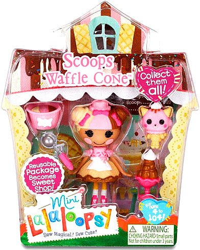 Mini Lalaloopsy Sugar and Spice Doll - Scoops Waffle Cone