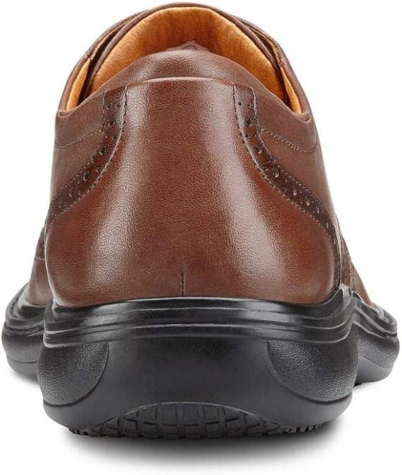 Dr Comfort Mens Wing Chestnut Diabetic Dress Shoes