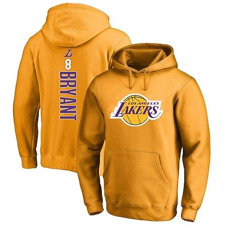 Hombre Mujer Sudadera de Baloncesto NBA Lakers 8# Kobe Bryant ...