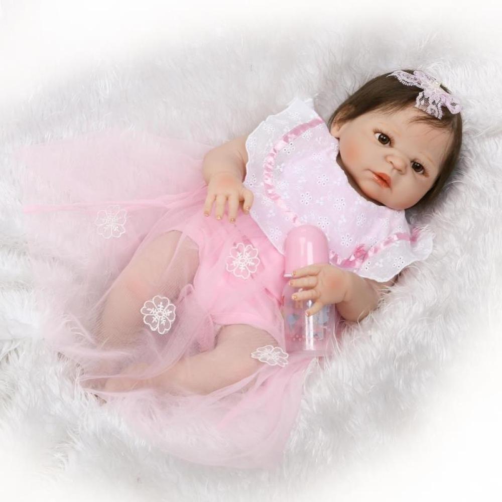 GHCX Simulation Reborn Puppe Silikon Süßes Mädchen Kann Das Wasser Begleiter Spielzeug Kinder Kreative Persönlichkeit Geschenk 56CM Eingeben B07FVX6V7B Babypuppen Primäre Qualität | Neues Design