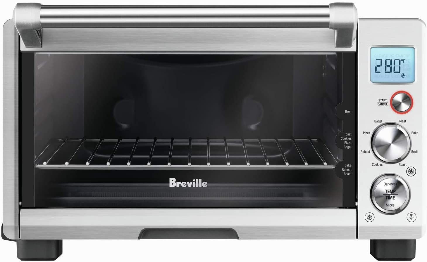 Breville BOV670BSS Smart Oven Compact Convection, Brushed Stainless Steel (Renewed)