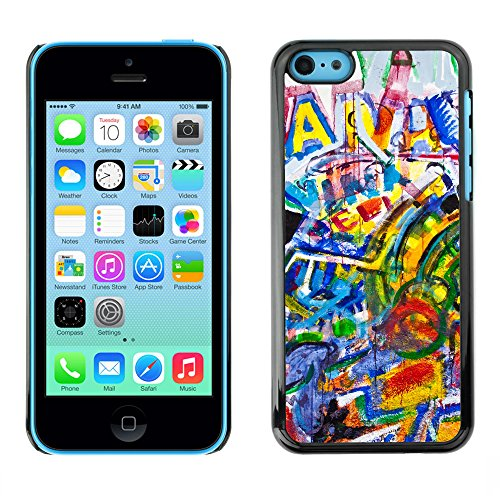 Premio Sottile Slim Cassa Custodia Case Cover Shell // V00002308 Graffiti // Apple iPhone 5C