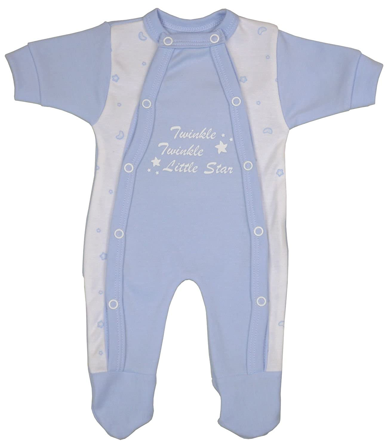BabyPrem Preemie Baby Twinkle Little Star Footie Clothes 1.5-7.5lb