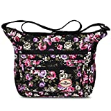 Floral Crossbody Bag Cute Lightweight Shoulder Messenger Purse for Women & Girls