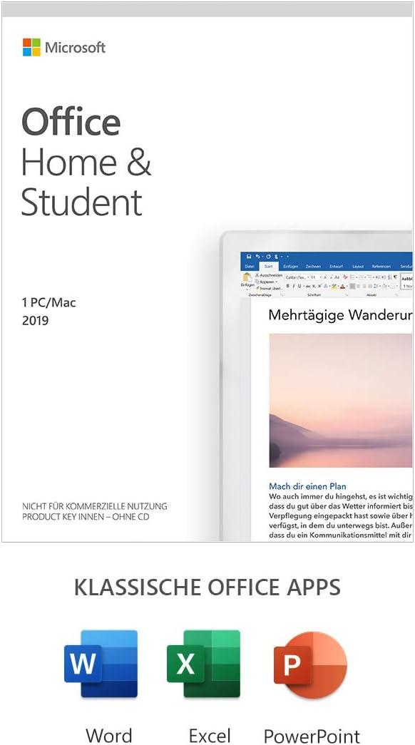 Microsoft Office 2019 Home Student Multilingual 1 Pc Windows 10 Mac Dauerlizenz Box Amazon De Software