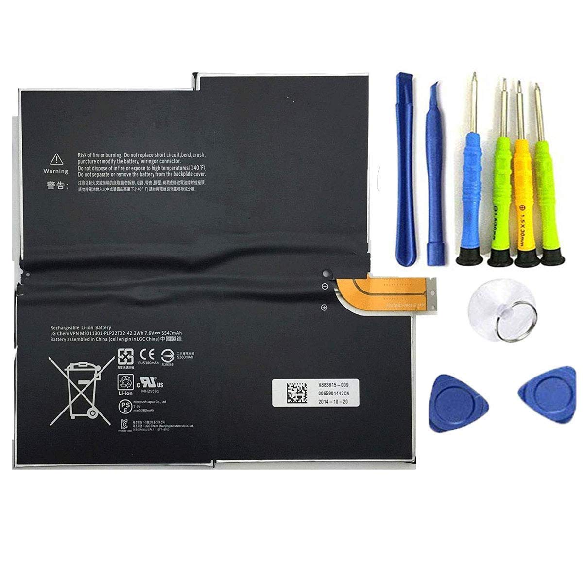 Bateria : Microsoft G3hta005h Surface Pro 3 1631 Windows
