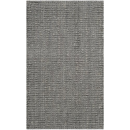 Safavieh Natural Fiber Collection NF447G Hand Woven Light Grey Jute Area Rug (2