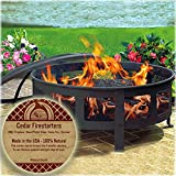 Midwest Hearth Cedar Fire Starters - 100% Natural - Made in The USA - BBQ, Fireplaces, Stoves, Outdoor, Camp Fire, Survival - 8 Pack