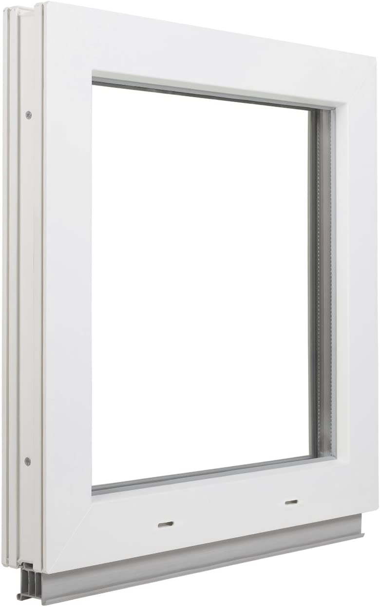 Fenster Wei/ß BxH: 70x55 cm Premium 2 Fach Verglasung Breite: 70 cm FIB Kunststofffenster Festverglasung