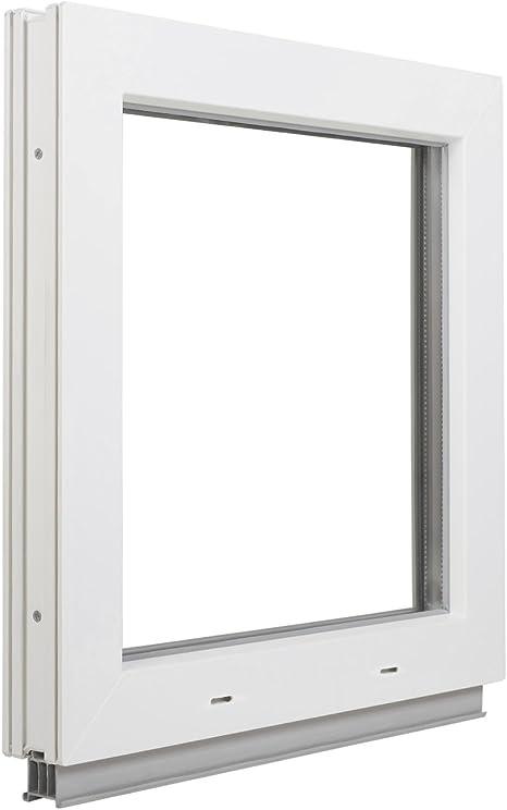 Premium Kunststofffenster Von Komforta Din Links-Funktion Dreh Kipp Fenster Garagenfenster//Gartenhaus Fenster BxH 95 x 40 cm 2-fach Verglast Kellerfenster Wei/ß//Anthrazit BxH 950 x 400 mm