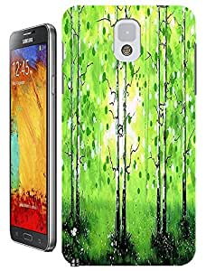 LKPOP Samsung Galaxy Note 3 N3 Cases / Covers Design With Beautiful Oil Paintings Trees Colorful Cell Phone Hard Case ( Color Sunshine Green )